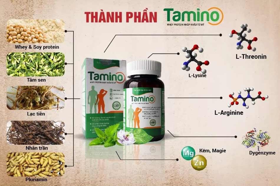 Các thành phần chính có trong viên uống Tamino