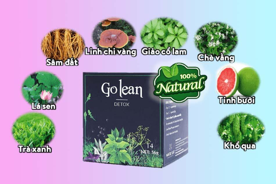 Các thành phần chính có trong Trà giảm cân Golean